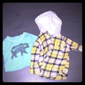 Other - Plaid Long Sleeve and cute onesie